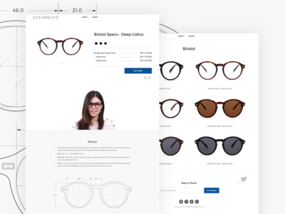 SATURDAYS eyewear website