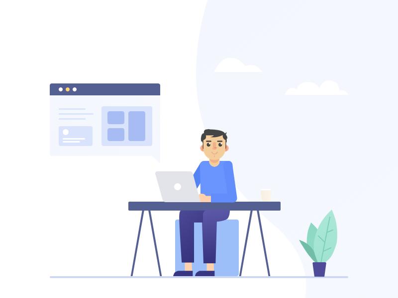 Illustration as brand identity and more informative for UI design illustration personalbranding ux ui