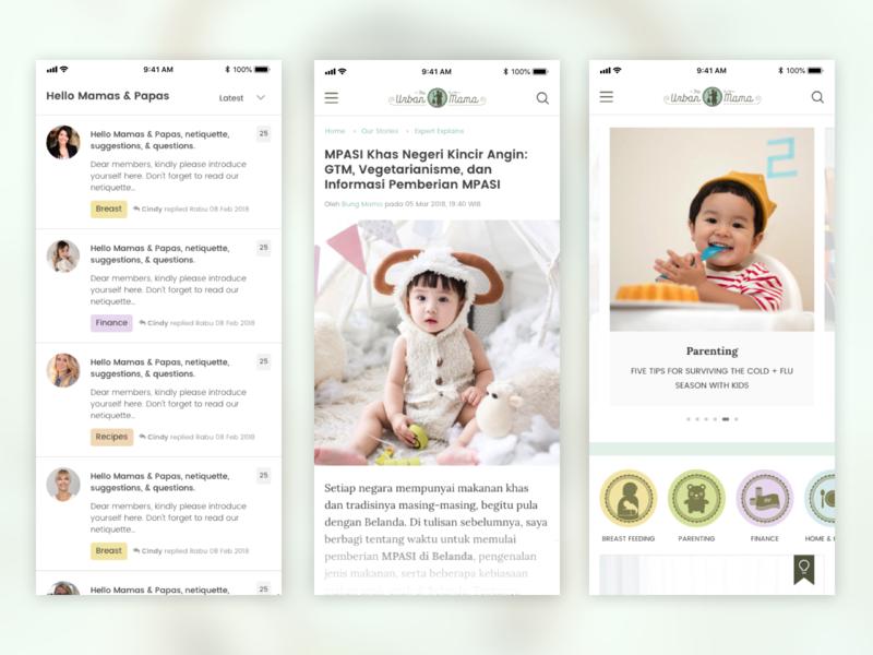The Urban Mama Blog & Forum baby wordpress uiuxdesign blog ui