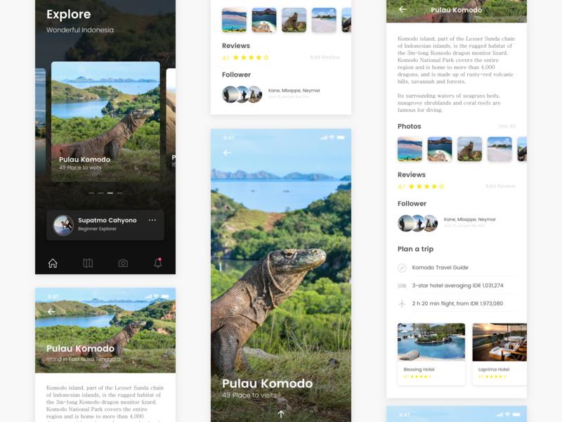 #Exploration Adventure Tourism App userexperiencedesign userexperience tourism adventure typography design ux ui app