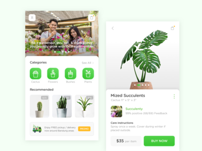Plantpedia App - Home Screen