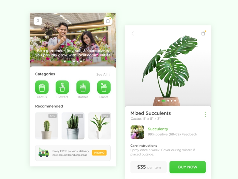 Plantpedia App - Home Screen logo app design ux ui
