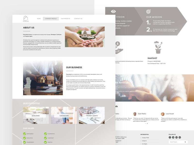 Pesonaland - Property Agent Website simple property design website ui