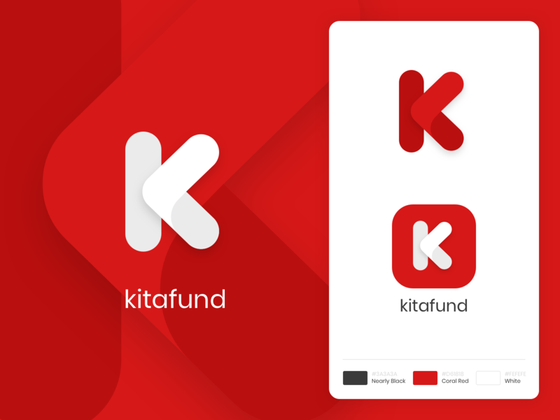 Kitafund Logo rebrand malaysia funding kitafund crowdfunding logogram typography brand icons logo brand identity branding
