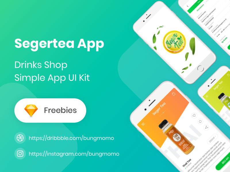 Segertea App - Drinks Shop Simple App UI Kit ui kit ux ui beverages drinks shop app