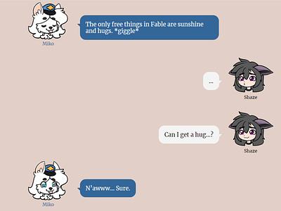 Kemono Cafe Emoticon Post Example 2 emoticon emoji canine dog pokemon blue illustration anthropomorphism anthropomorphic anthro
