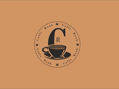 coffe rank icon vector logo design