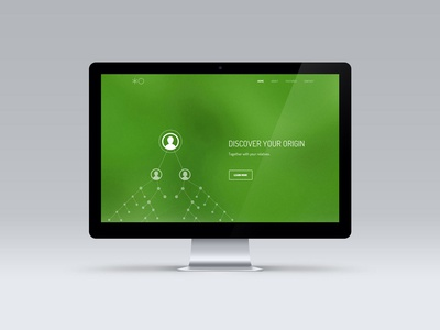 Landing page redesign startup genealogy family landingpage