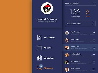 Screens for LaboraToday.com interaction webapp visual design user interface design