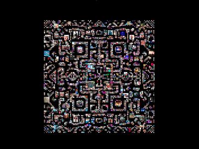 Indala - mandala of the digital society instagram generative photos time art data pixels indala digital mandala visual experiment