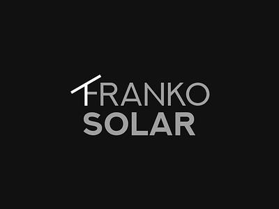Franko Solar | Solar Station minimal flat css animation css html solar panel solar typography icon vector branding design logo