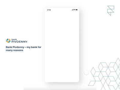 Get a card | Bank Pivdenny | Redesign bank card product design finance app fintech bank redesign concept prototype prototype animation interaction redesign concept design ui ux animation app framer