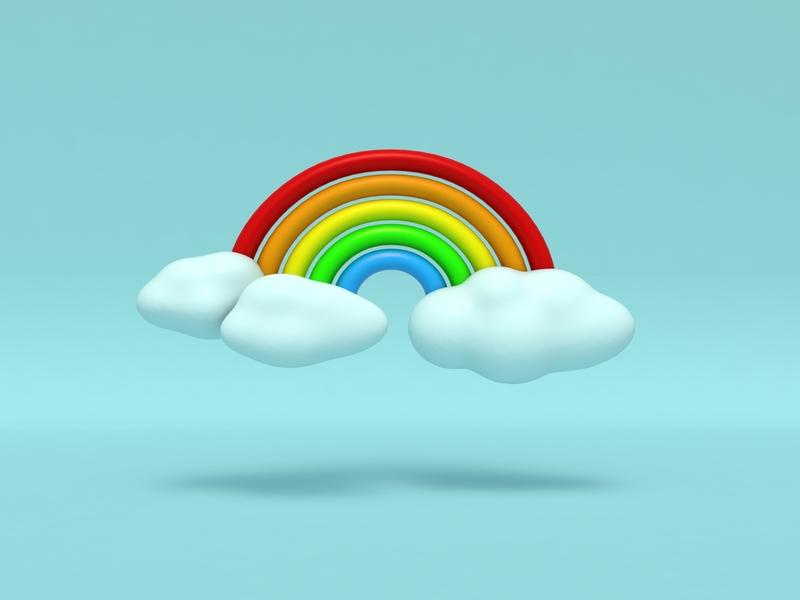 Rainbow Day rainbow c4dfordesigners illustration c4dart emoji art 3d design c4d