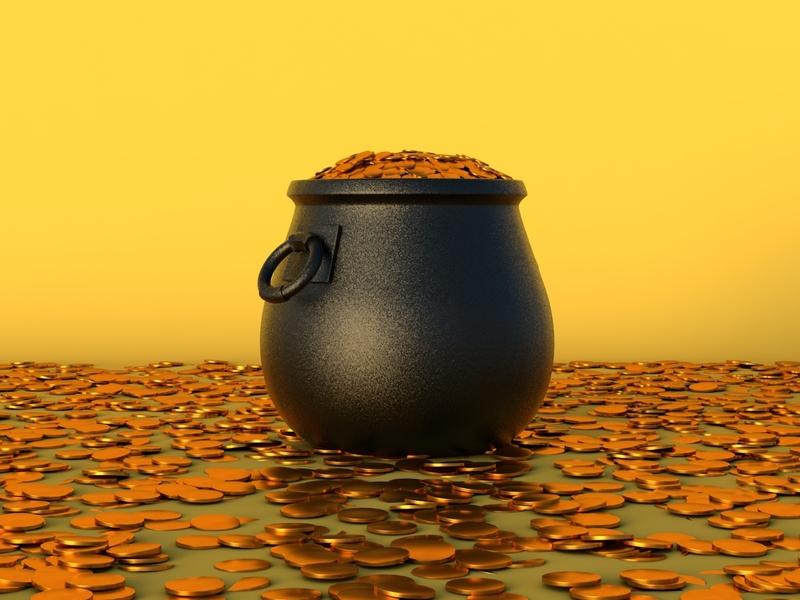 Pot of Gold gold c4dfordesigners illustration emojis c4dart emoji art 3d design c4d