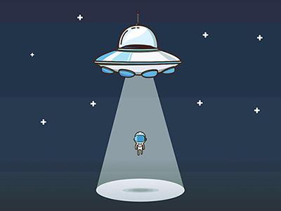 Abducted illustration astronaut space abduct ufo alien