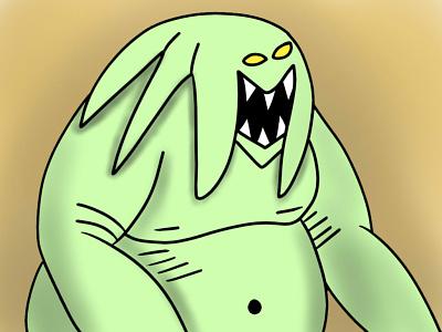 A Monster digital art draw artist graphic design adobe photoshop illustration artwork art creature monster