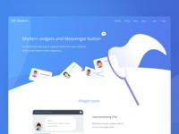 Messenger widgets for websites