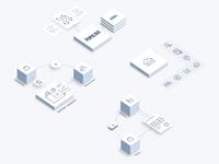 Illustrations for a FinTech blockchain company