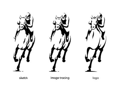 A part of a logo creation process
