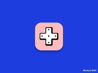 DailyUI 005 App Icon icon vector ui retro gaming emulator app icon daily ui 005 dailyuichallenge daily ui dailyui