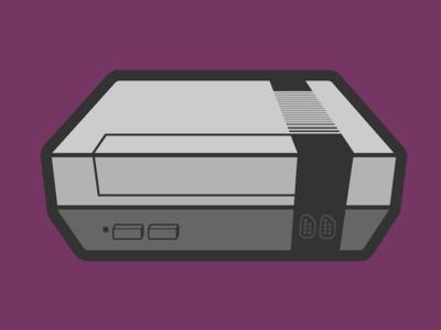 Nes Console Colored