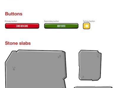 Munchkin Level Counter styleguide responsive app design web app