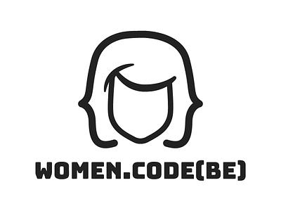 women.code(be) community logo women.code(be) womendotcodebe community community womeninit womenintech womenwhocode womencodebe womendotcodebe code branding logo design identity logo