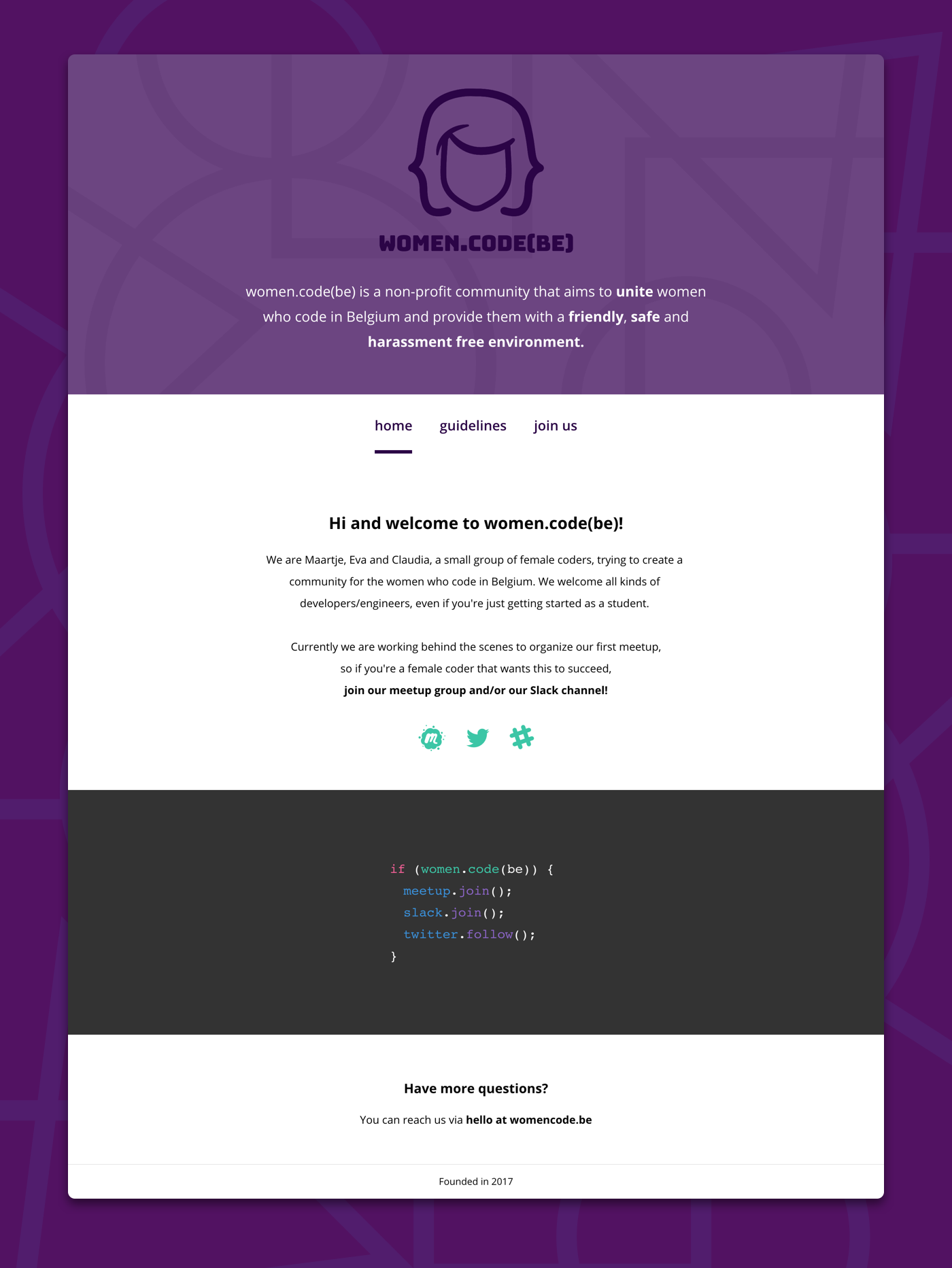Womencodebe homepage full
