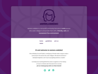 women.code(be) community homepage