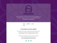 women.code(be) community homepage