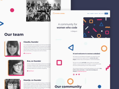 women.code(be) website