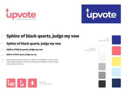 Upvote logo styleguide branding brand identity logo