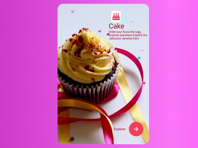 Cake business cake design app ui illustration ux