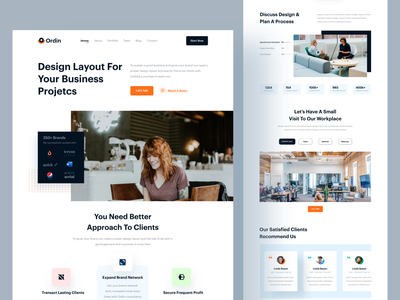 Ordin- Agency Website service ordin minimal digital agency agency website agency landing page branding clean ux ui design