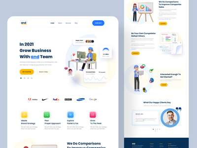 And   agency website preview Dribbble website webdesign userinterface ui clean ux website design web design digital agency digital agency landing page
