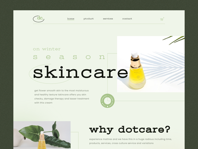 Dotcare Preview userinterface typography design clean ui ux branding webdesign website website design web landingpage