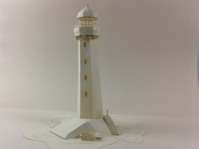 Lighthouse paper paper illustration art test