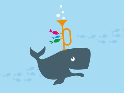 Whale trumpet