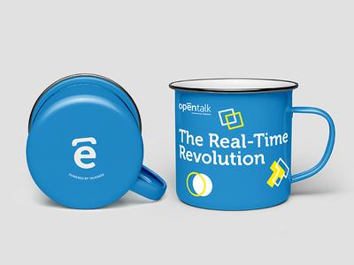 Opentalk Summit - Powered by Talkdesk mockup brand mug talkdesk opentalk