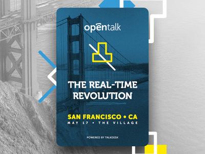 Opentalk Summit Promotion - Powered by Talkdesk francisco san opentalk talkdesk badge brand