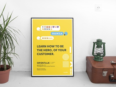 Frame Print Ad Opentalk Messaging promotion messaging print talkdesk opentalk