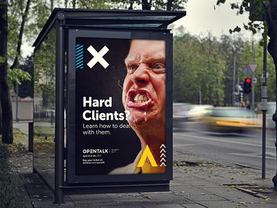 Hard Clients — Opentalk outdoor ad print talkdesk opentalk