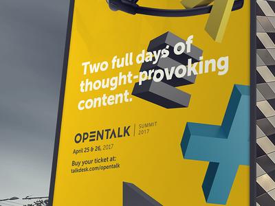 Opentalk Summit 2017 Outdoor outdoor ad print talkdesk opentalk