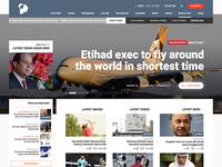 Redesigned version for a newspage website at Dubai