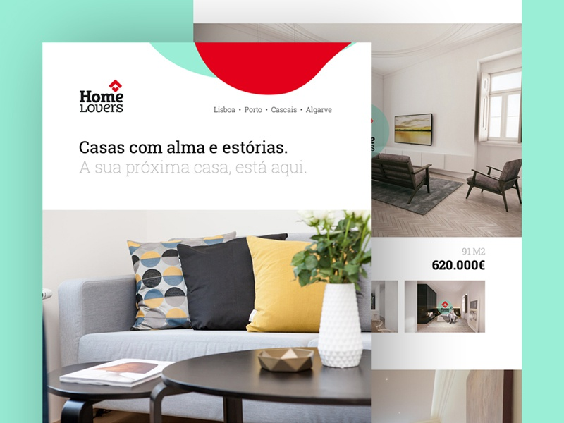 Home Lovers — Real Estate Newsletter real estate homelovers ui newsletter