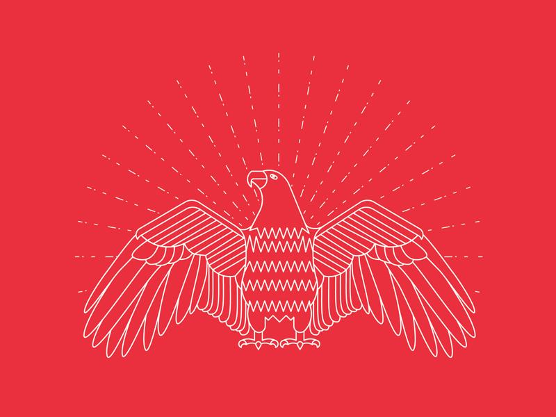 Celebrate Independence line art eagle illustrator illustration 4th of july independence day independence