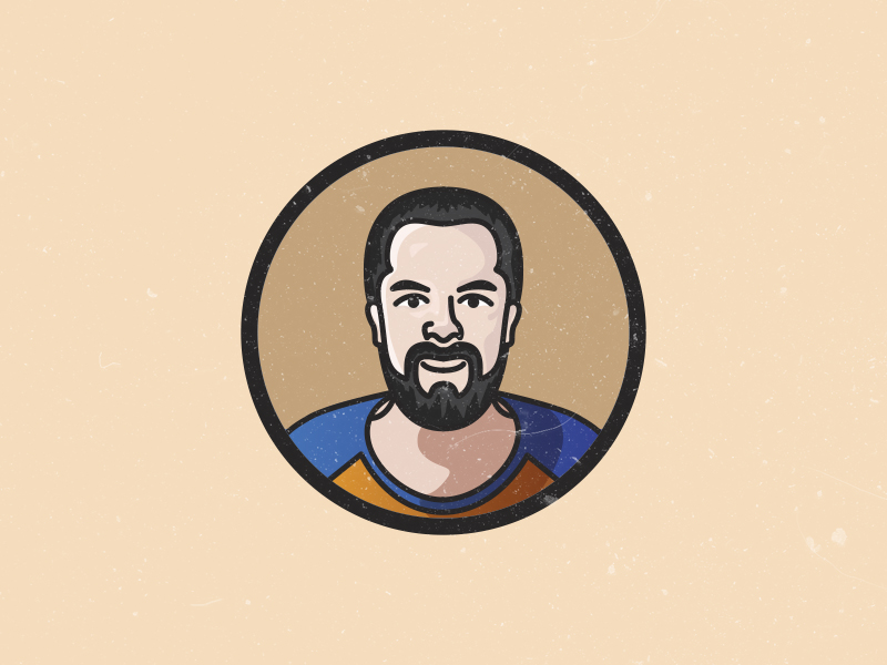 Hey, It's Me! beard avatar happy profile illustrator illustration vector portrait