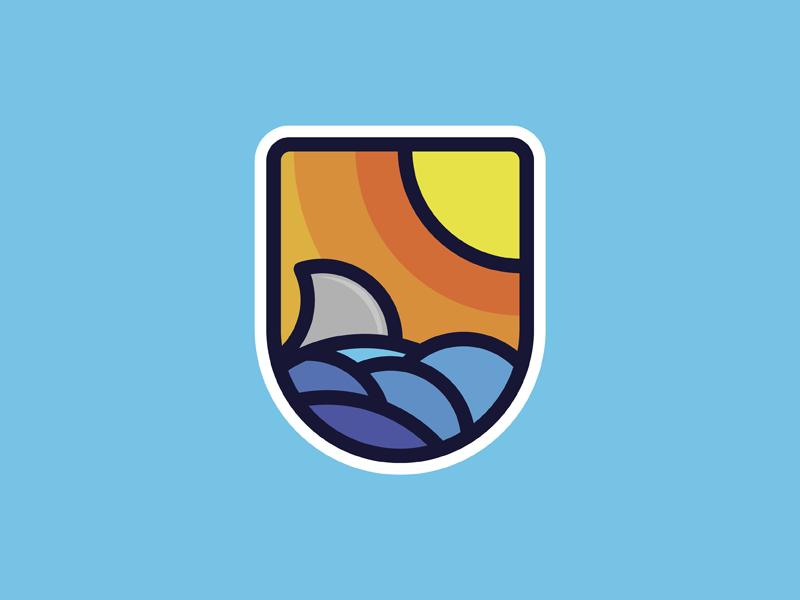 Nothing Says Summer Like Shark Week ocean sun shark illustrator illustration vector shark week summer sticker playoff