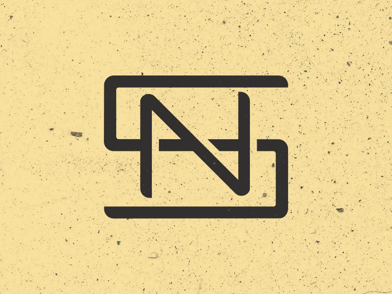 SN Monogram Version 1 logo design flat identity branding photoshop illustrator illustration monogram