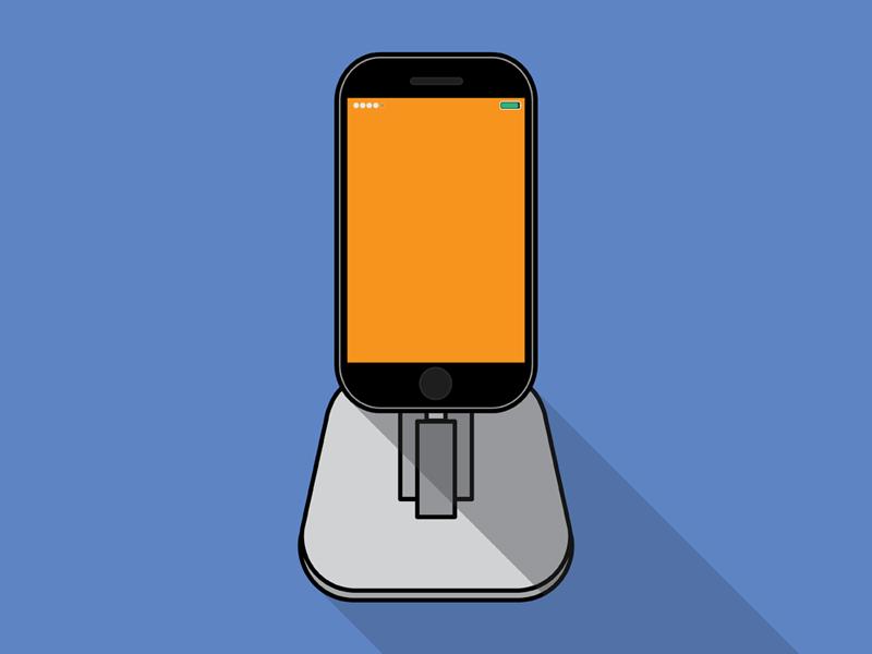 TwelveSouth iPhone Dock shadows flat apple illustrator illustration dock iphone